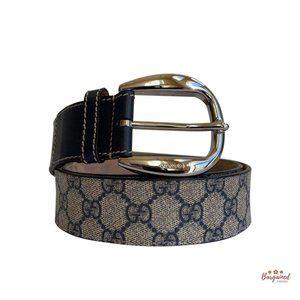 Authentic GUCCI GG Supreme Buckle Belt 95/38